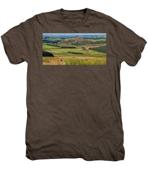 Scotland View From The English Borders Men's Premium T-Shirt