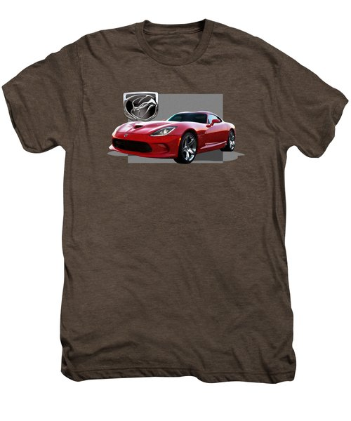 S R T  Viper With  3 D  Badge  Men's Premium T-Shirt