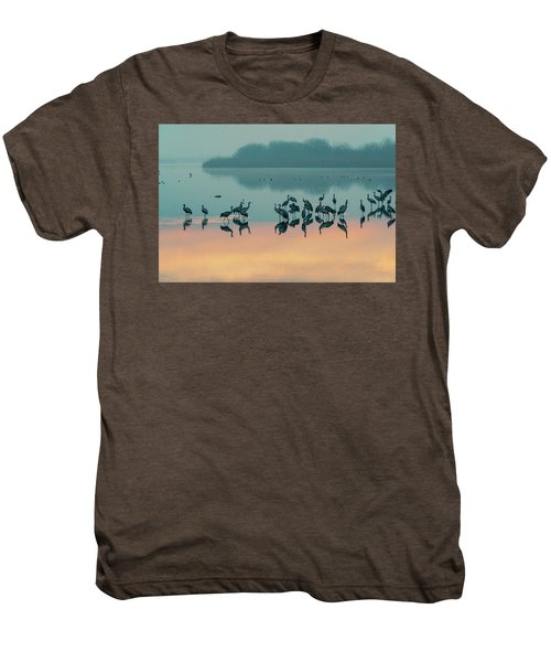 Sunrise Over The Hula Valley Men's Premium T-Shirt