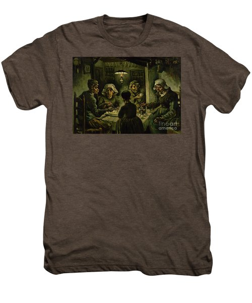 The Potato Eaters, 1885 Men's Premium T-Shirt by Vincent Van Gogh