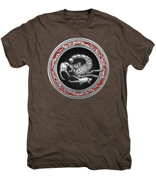Treasure Trove - Sacred Silver Scorpion On Red Men's Premium T-Shirt