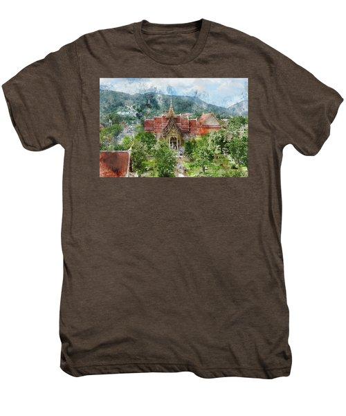 Wat Chalong In Phuket Thailand Men's Premium T-Shirt