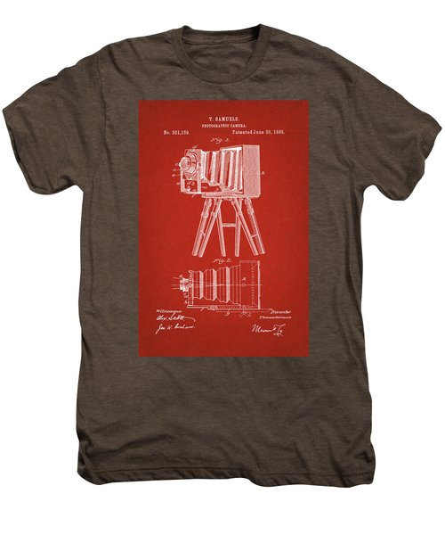 1885 Camera Us Patent Invention Drawing - Red Men's Premium T-Shirt