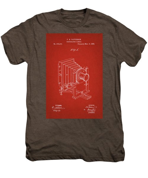 1888 Camera Us Patent Invention Drawing - Red Men's Premium T-Shirt