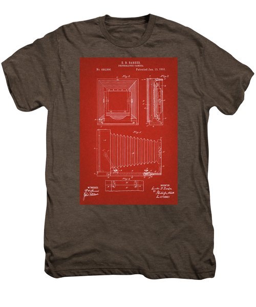 1891 Camera Us Patent Invention Drawing - Red Men's Premium T-Shirt