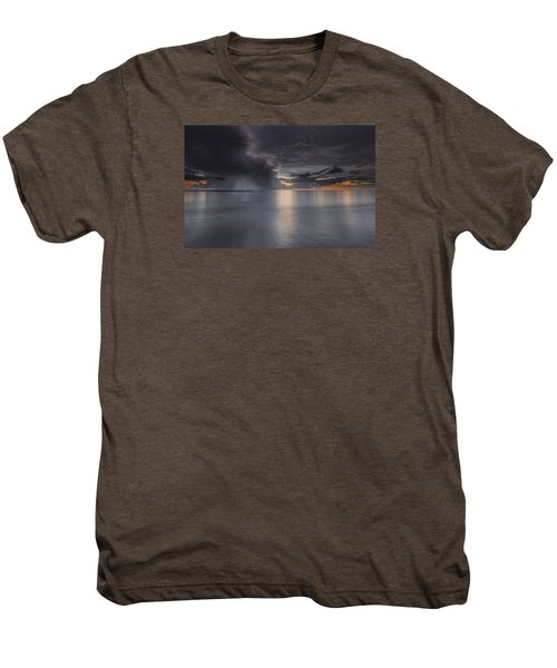 Sunst Over The Ocean Men's Premium T-Shirt