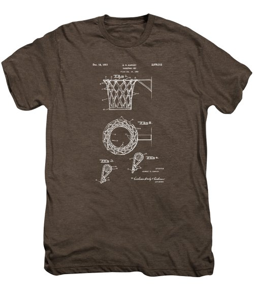 1951 Basketball Net Patent Artwork - Gray Men's Premium T-Shirt