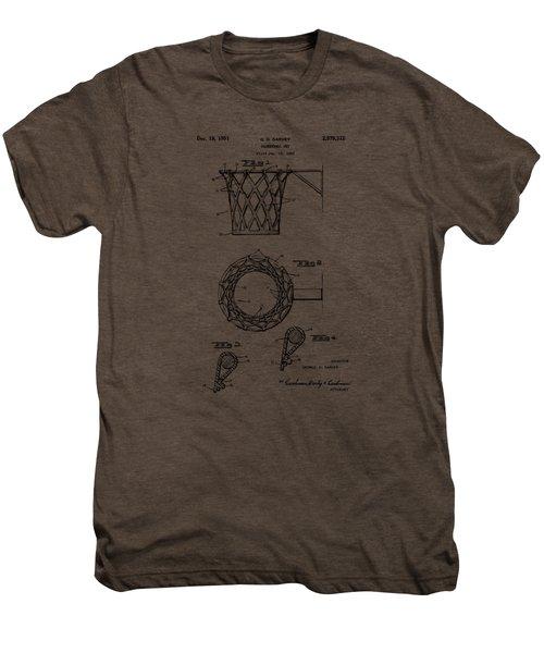 1951 Basketball Net Patent Artwork - Vintage Men's Premium T-Shirt