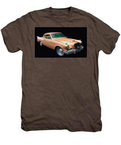 1957 Studebaker Golden Hawk Digital Oil Men's Premium T-Shirt