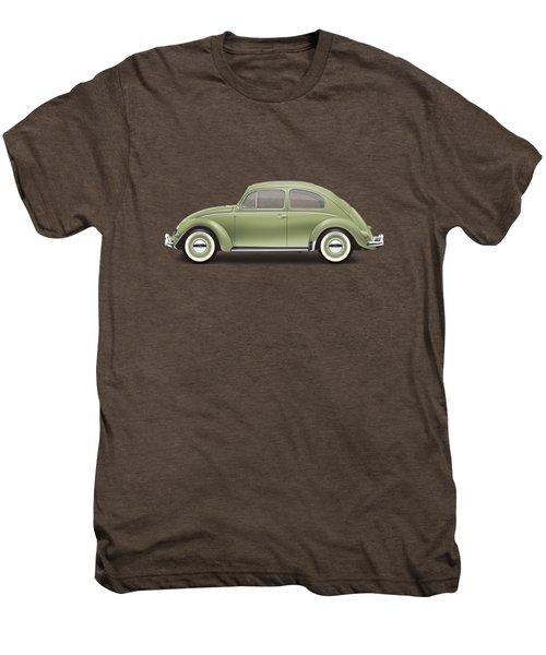 1957 Volkswagen Deluxe Sedan - Diamond Green Men's Premium T-Shirt by Ed Jackson