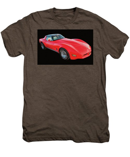 1977 Chevy Corvette T Tops Digital Oil Men's Premium T-Shirt