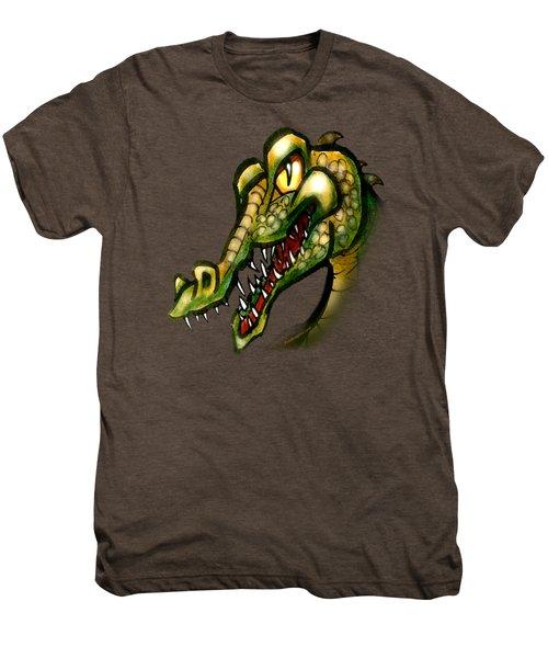 Crocodile Men's Premium T-Shirt by Kevin Middleton