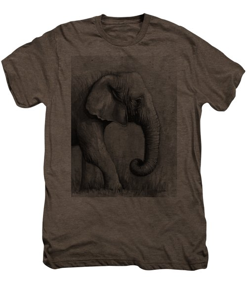Elephant Watercolor Men's Premium T-Shirt