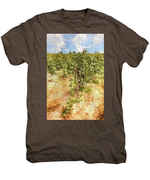 Napa Vineyard In The Spring Men's Premium T-Shirt