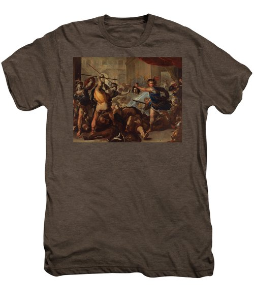 Perseus Turning Phineas And His Followers To Stone Men's Premium T-Shirt