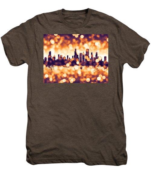 Chicago Illinois Skyline Men's Premium T-Shirt by Michael Tompsett