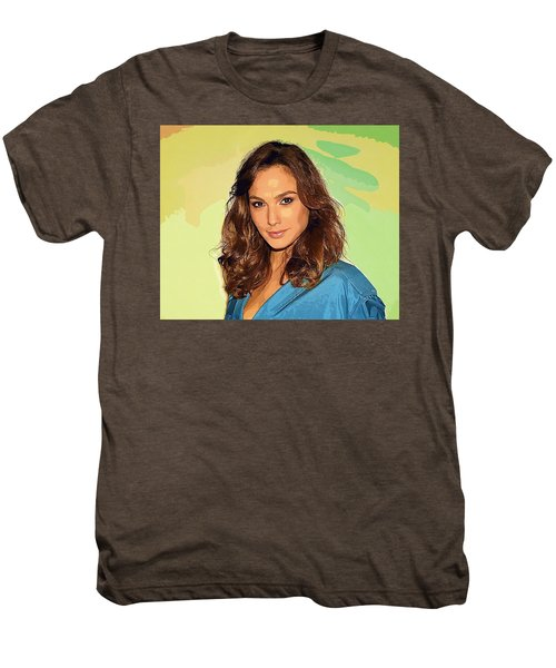 Gal Gadot Art Men's Premium T-Shirt by Best Actors