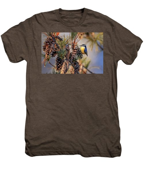 Black-capped Chickadee Men's Premium T-Shirt