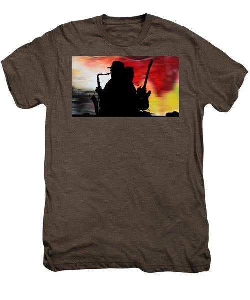 Bruce Springsteen Clarence Clemons Men's Premium T-Shirt by Marvin Blaine