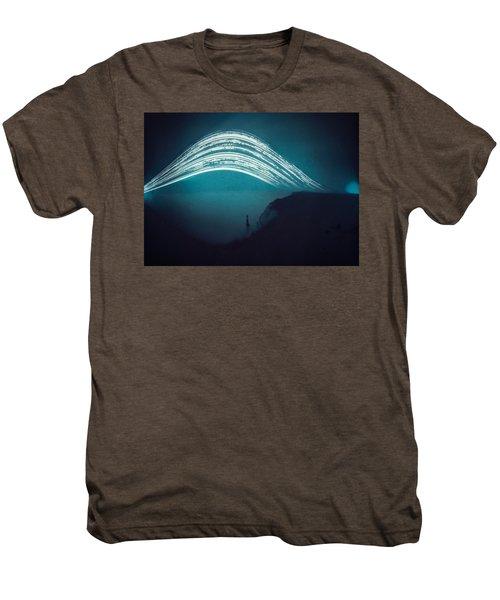 3 Month Exposure At Beachy Head Lighthouse Men's Premium T-Shirt