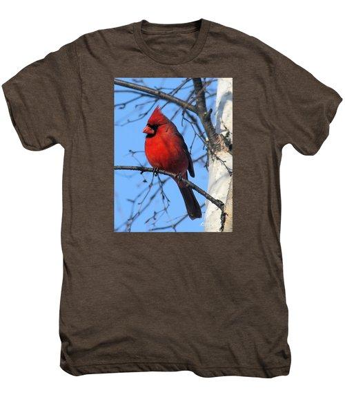 Northern Cardinal Men's Premium T-Shirt