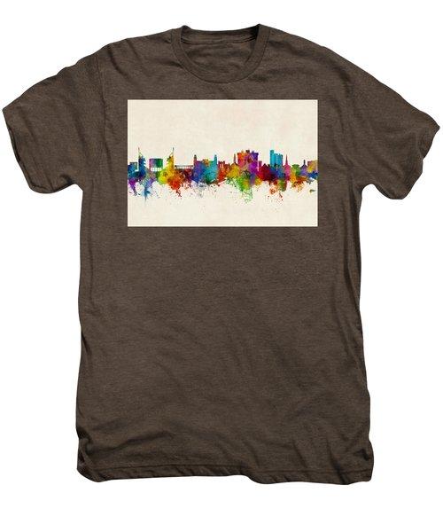 Fayetteville Arkansas Skyline Men's Premium T-Shirt by Michael Tompsett