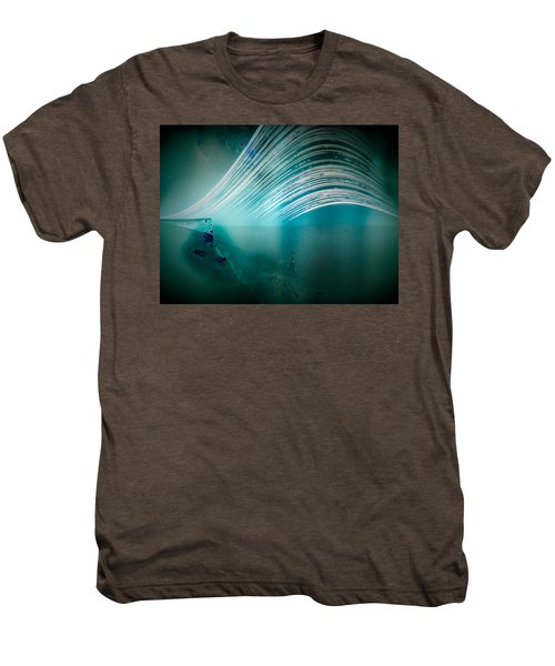 6 Month Exposure Overlooking The Beachy Head Lighthouse Men's Premium T-Shirt
