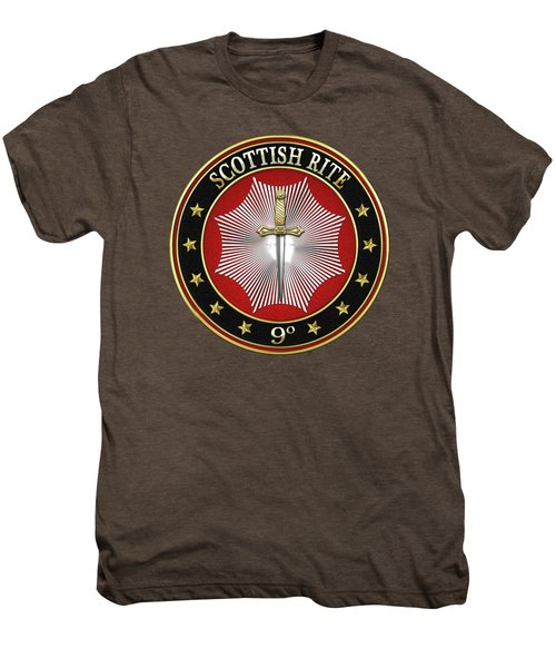 9th Degree - Elu Of The Nine Jewel On Red Leather Men's Premium T-Shirt