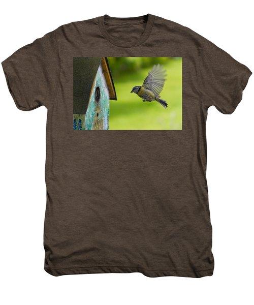 A Busy Blue Tit Mum Men's Premium T-Shirt