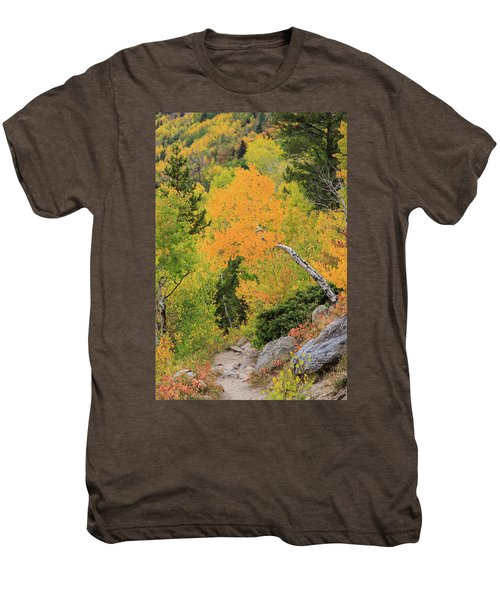 Men's Premium T-Shirt featuring the photograph Yellow Drop by David Chandler