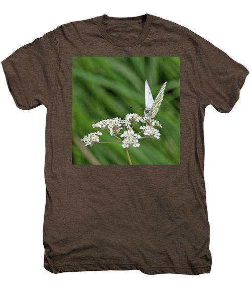 A Green-veined White (pieris Napi) Men's Premium T-Shirt