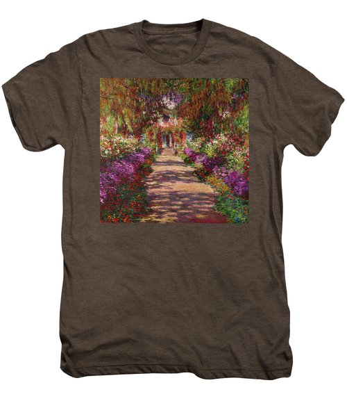 A Pathway In Monets Garden Giverny Men's Premium T-Shirt
