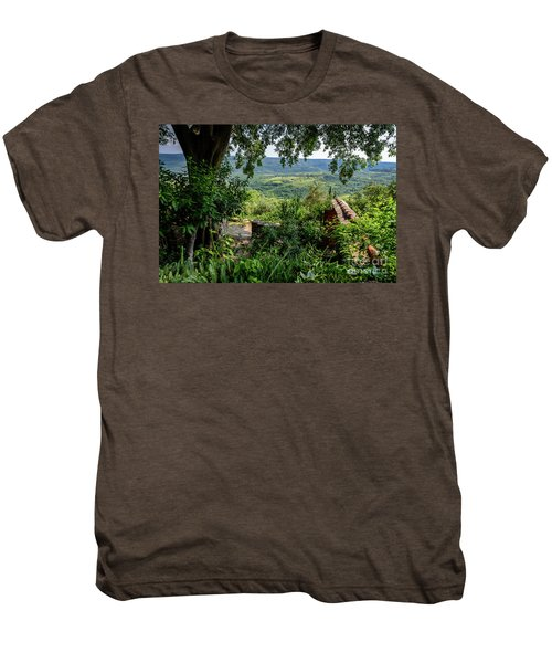 A View From Groznjan Of The Istrian Hill Town Countryside, Istria, Croatia Men's Premium T-Shirt