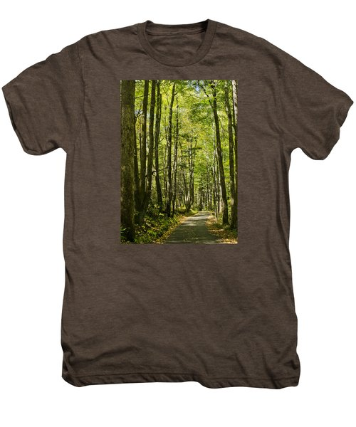 A Woodsy Trail Men's Premium T-Shirt