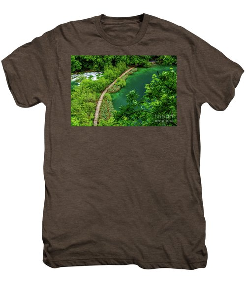 Above The Paths At Plitvice Lakes National Park, Croatia Men's Premium T-Shirt