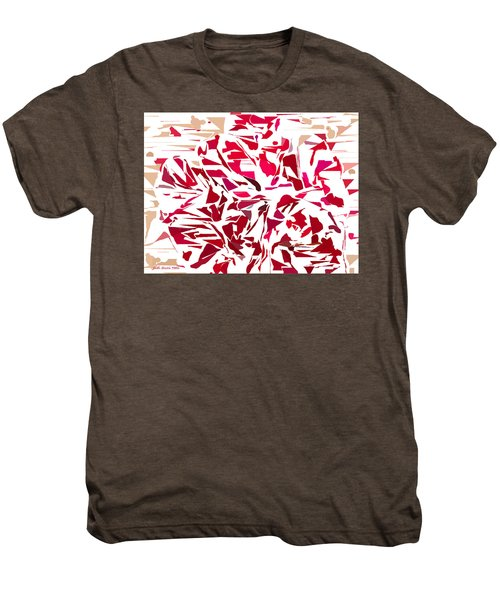 Abstract Geranium Men's Premium T-Shirt