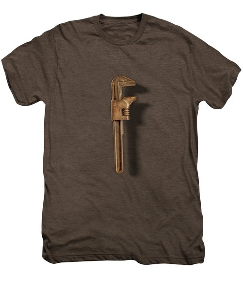 Adjustable Wrench Back On Color Paper Men's Premium T-Shirt