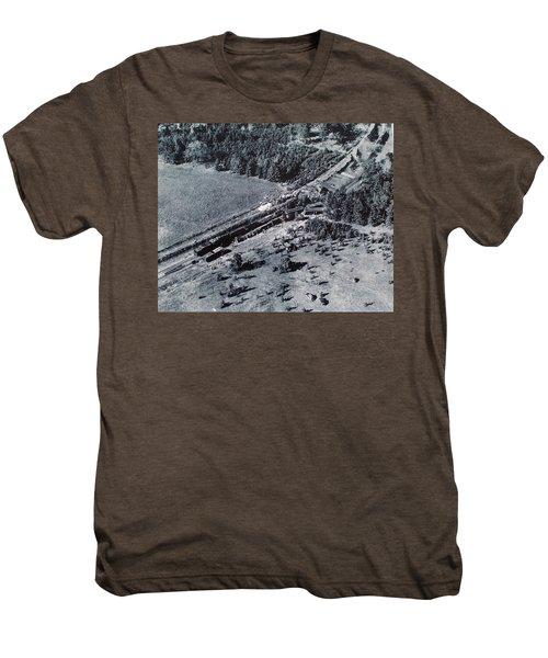 Aerial Train Wreck Men's Premium T-Shirt