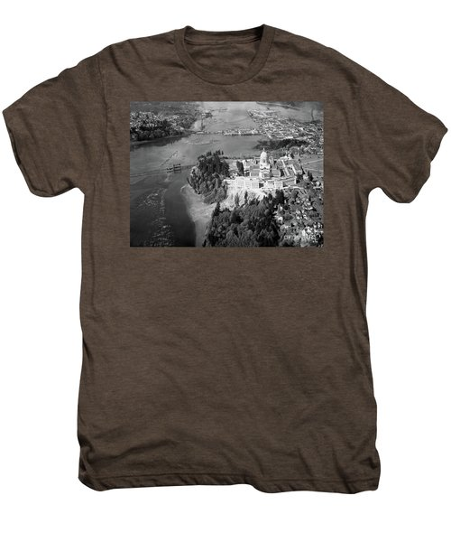Aerial View Northward Over Olympia Men's Premium T-Shirt