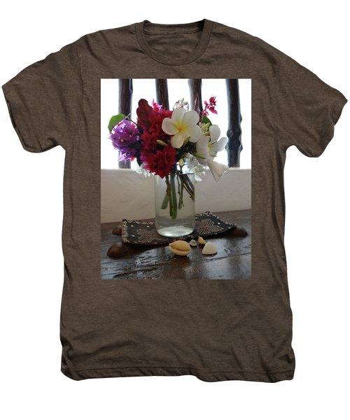 African Flowers And Shells Men's Premium T-Shirt