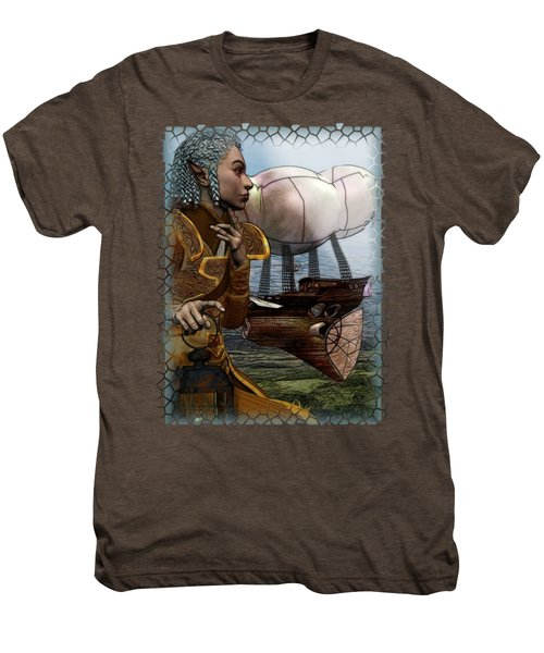 Airship Men's Premium T-Shirt by Sharon and Renee Lozen