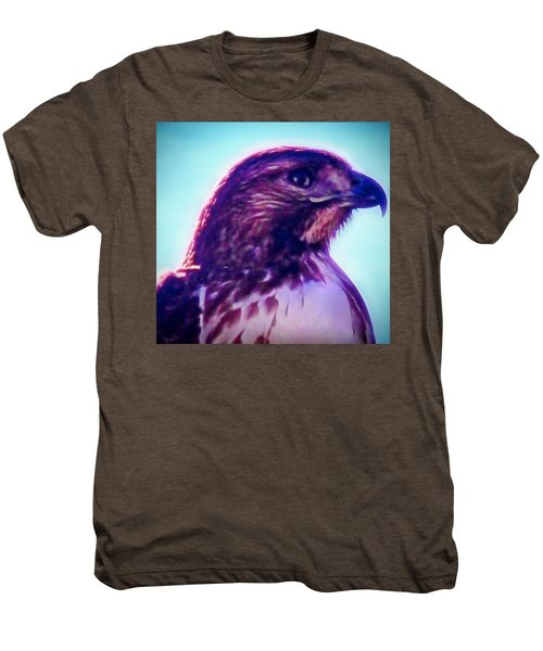 Ak-chin Red-tailed Hawk Portrait Men's Premium T-Shirt