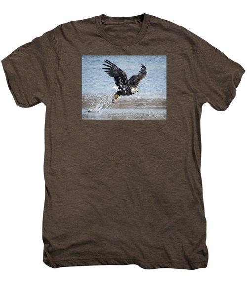 American Bald Eagle Taking Off Men's Premium T-Shirt