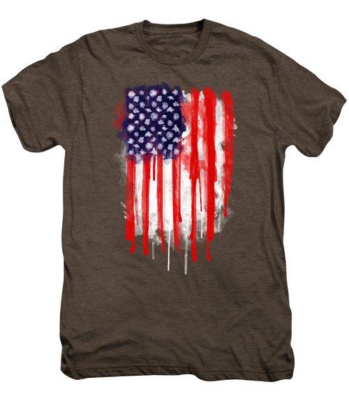 American Spatter Flag Men's Premium T-Shirt