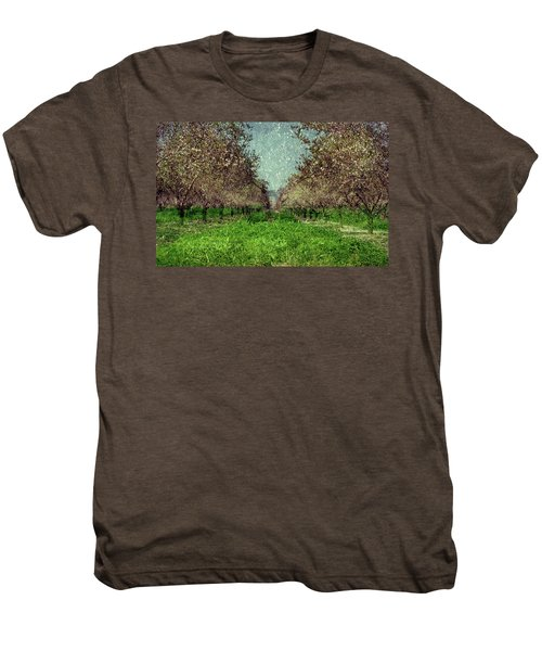 An Orchard In Blossom In The Eila Valley Men's Premium T-Shirt