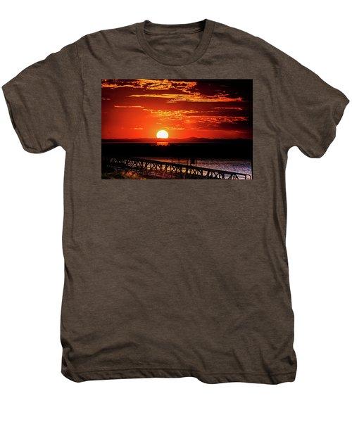 Antelope Island Marina Sunset Men's Premium T-Shirt