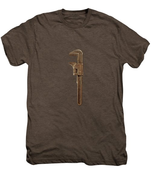 Antique Adjustable Wrench Front On Black Men's Premium T-Shirt