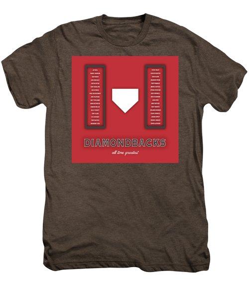 Arizona Diamondbacks Art - Mlb Baseball Wall Print Men's Premium T-Shirt by Damon Gray