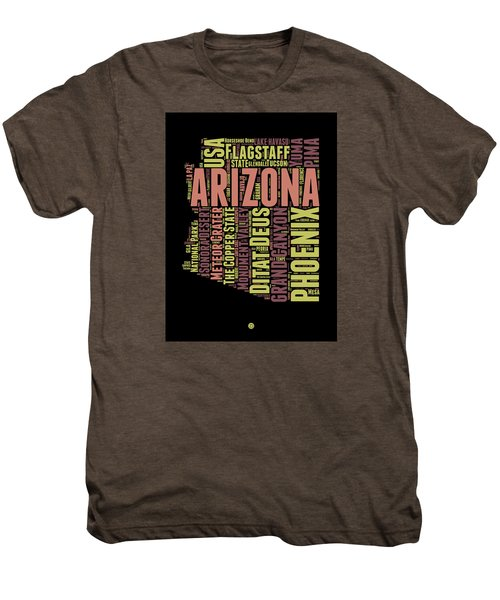 Arizona Word Cloud Map 1 Men's Premium T-Shirt by Naxart Studio