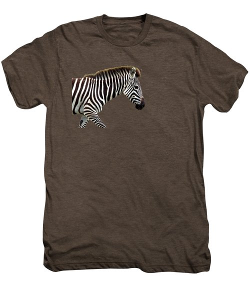 Zebra Men's Premium T-Shirt by Aidan Moran